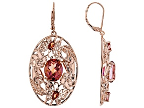 WhatIWant™ Quartz Copper Earrings 7.27ctw