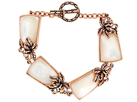 Copper White Mother Of Pearl Bracelet