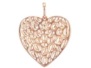Copper Textured Heart Enhancer