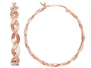 Copper Twisted Braid Hoop Earrings