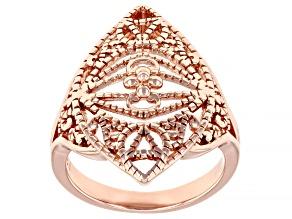 Copper Milgrain Open Design Ring