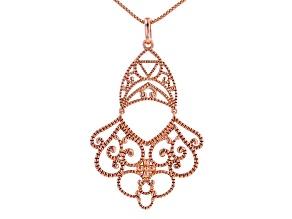 "Copper Milgrain Open Design Enhancer With 18"" Chain"