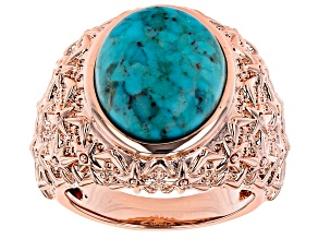 Turquoise Copper Dome Ring