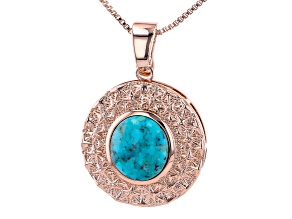 "Turquoise Copper Enhancer With 18"" Chain"