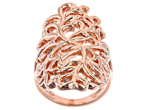Copper Filigree Knuckle Ring