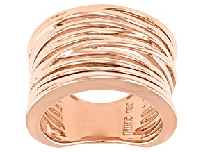 Copper Criss Cross With Open Design Work Ring