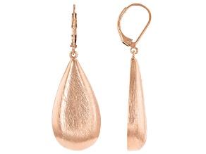 Copper Brushed Teardrop Earrings