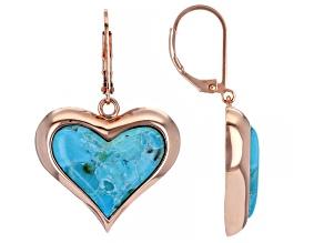 Heart Shape Turquoise Copper Earrings