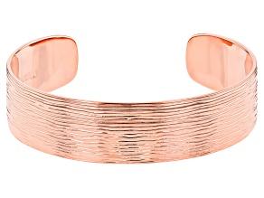 Brushed Copper Cuff Bracelet