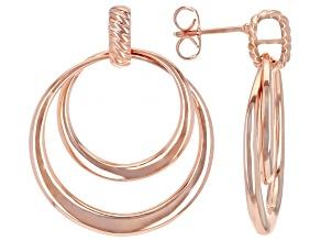 Copper Interlaced Double Hoop Earrings