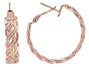 Copper Braided Hoop Earrings