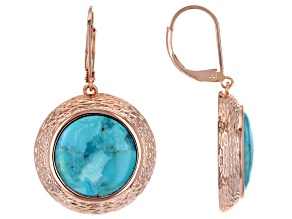 Round Turquoise Copper Earrings