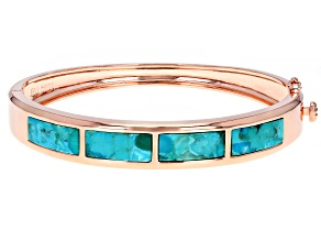 Rectangle Turquoise Inlay Copper Cuff Bracelet