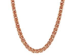 "18""Copper Byzantine Chain Necklace"