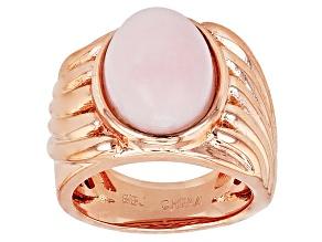 Copper Pink Peruvian Opal Ring