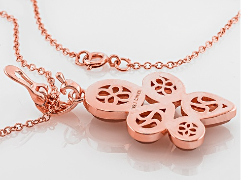 Copper Orange Sunstone Enhancer With Chain