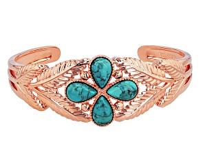 Turquoise Copper Cuff Bracelet