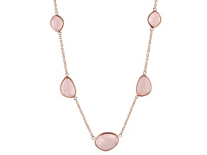 Copper Rose Quartz Necklace
