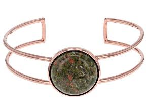 Copper Unakite Cuff Bracelet