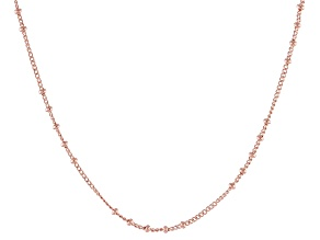 Copper Bead Station Chain Necklace