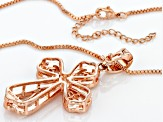 Copper Textured Cross Enhancer With Chain