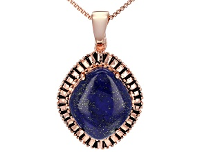 Copper Lapis Enhancer With Chain