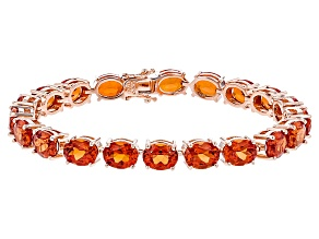 Copper Lab Created Padparadscha Sapphire Bracelet 53.00ctw