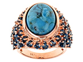 Copper Turquoise Ring 5.01ctw