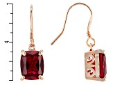 Red Lab Created Ruby Copper Earrings 7.20ctw
