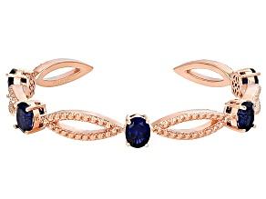 Copper Sapphire Cuff Bracelet 13.50ctw