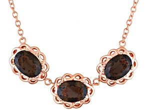 Copper Smoky Quartz Necklace 16.80ctw