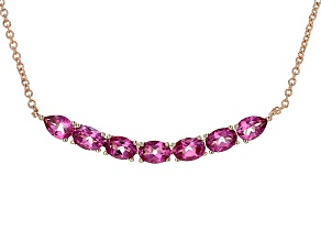 Copper Pink Topaz Necklace 5.35ctw