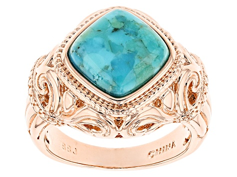 Blue Turquoise Copper Ring