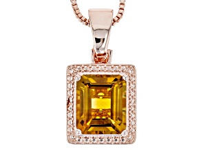 Orange Madeira Citrine Copper Enhancer With Chain 4.68ct