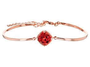 Orange Lab Created Padparadscha Sapphire Copper Bracelet 4.15ctw