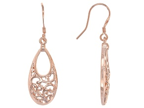 Copper Filigree Dangle Earrings