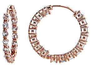 Sky Blue Copper Earrings 3.80ctw