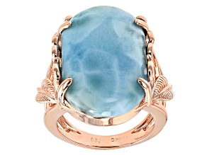 Blue Larimar Copper Ring
