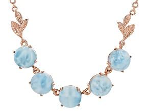 Blue Larimar Copper Necklace