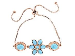 Blue Larimar Copper Bolo Bracelet