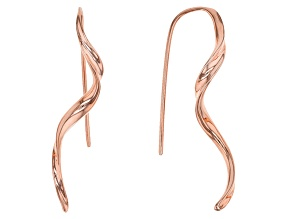 Twisted Copper Drop Earrings