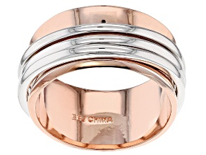 Two Tone Copper Spinner Band Ring