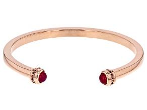 Pink onyx copper bracelet 0.57ctw