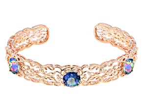 Flower Petal™ Mystic Quartz® Copper Bracelet 6.86ctw