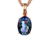 Flower Petal™ Mystic Quartz® Copper Pendant With Triple Chain 9.59ct