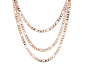 Copper Triple Chain Necklace