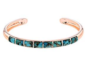 Turquoise Blue Copper Bracelet