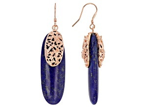 Blue Lapis Lazuli Copper Earrings