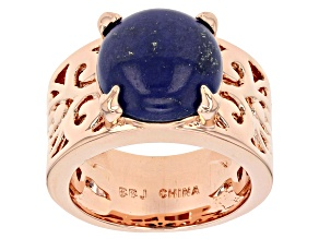 Blue Lapis Lazuli Copper Ring