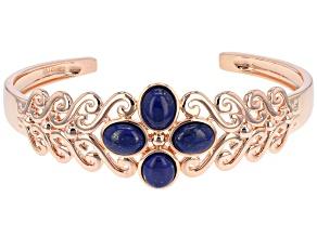 Blue Lapis Lazuli Copper Bracelet